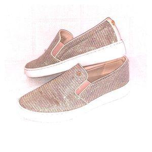 Sparkle slip on sneakers